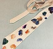 Doplnky - Hodvábna kravata Ginko - 12698233_