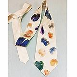 Doplnky - Hodvábna kravata Ginko - 12698235_