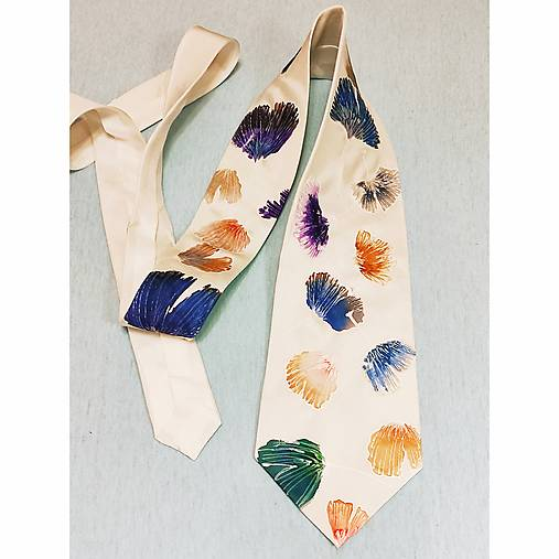 Hodvábna kravata Ginko