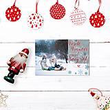Papiernictvo - Vianočná pohľadnica 2 dievčatá - 12693564_
