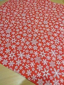 Úžitkový textil - Obrus biele vločky - 12698436_
