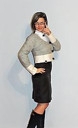 """Kabáty - krátke sako """"minimalistické"""" + darček - 12696126_"""