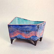Nádoby - Modrý kvetináč - 12695517_