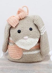 Detské tašky - Batoh zajko na zákazku - 12698437_