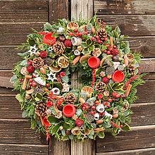 Dekorácie - Vianočný veniec zo živej čečiny - 12699569_