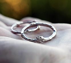 Prstene - Dámsky a pánsky snubný vetvičkový v zlate - 12698573_
