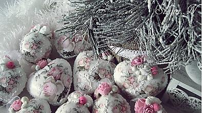 Dekorácie - Sada...Vianočné gule,vintage. - 12698751_