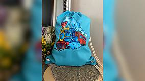 Batohy - ♥ Plátený, ručne maľovaný batoh ♥ - 12695428_