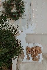 Dekorácie - Vianočný sob - biely 70 cm  - 12694564_