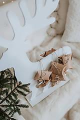 Dekorácie - Vianočný sob - biely 70 cm  - 12694567_