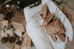 Dekorácie - Vianočný sob - biely 70 cm  - 12694569_