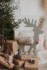 Dekorácie - Vianočný sob - biely 70 cm  - 12694574_