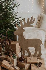 Dekorácie - Vianočný sob - hnedý 70 cm - 12694605_