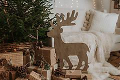 Dekorácie - Vianočný sob - hnedý 70 cm - 12694610_