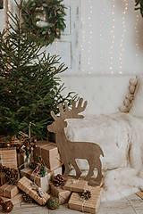 Dekorácie - Vianočný sob - hnedý 70 cm - 12694611_
