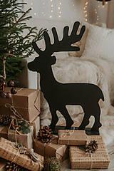 Dekorácie - Vianočný sob - čierny 70 cm - 12694788_