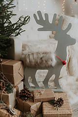 Dekorácie - Vianočný sob - čierny 70 cm - 12694791_