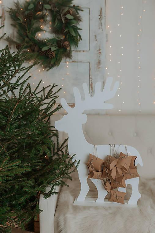 Vianočný sob - biely 70 cm