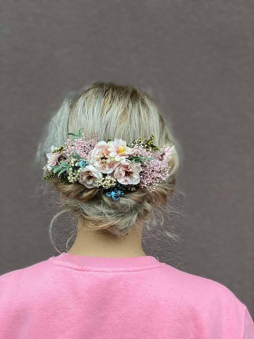 """Nežný kvetinový hrebienok """"ševelenie vetra"""""""