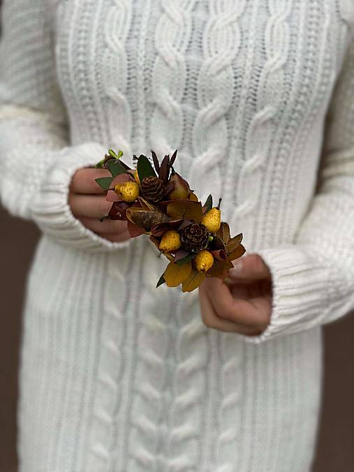 """Kvetinová čelenka """"na sklonku jesene"""""""