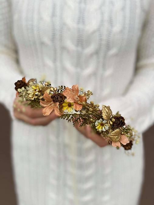 """Kvetinový venček """"zlaté lúče slnka"""""""