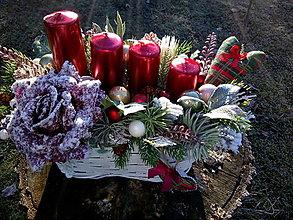 Dekorácie - adventný svietnik - 12694922_