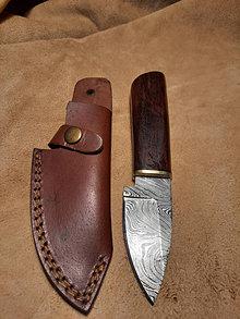 Nože - Damaskový lovecký nôž 205 - 12696722_