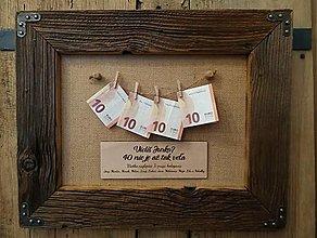 Obrazy - Obraz zo starého dreva - 40 nie je až tak veľa - 12696545_