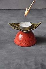 Svietidlá a sviečky - svietnik list - 12695202_