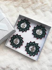Dekorácie - Sada 4 ks vianočné venčeky - 12698023_