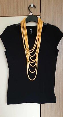Náhrdelníky - Oranžové šnúry - 12697394_