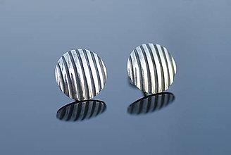 Náušnice - Kruhové náušnice so zvislými čiarami - 12699508_