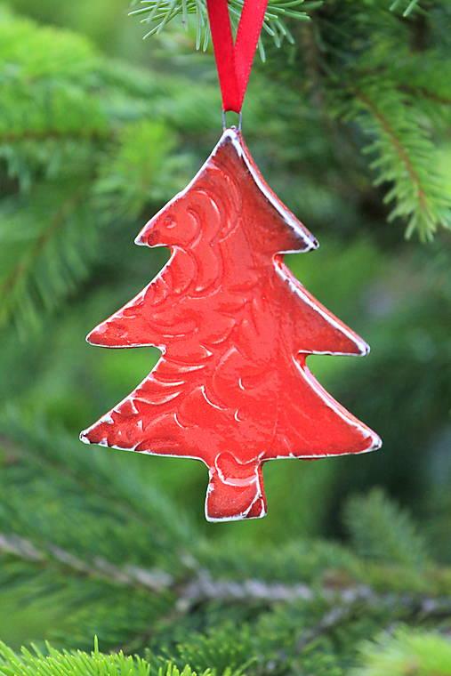 Vianočná ozdoba stromček (Červená)