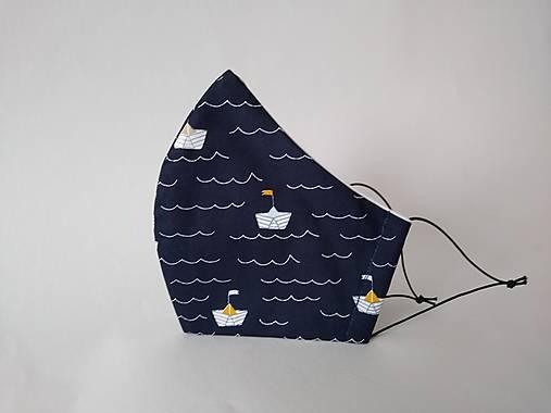 Dizajnové rúško plavba tvarované dvojvrstvové