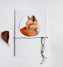 Papiernictvo - Pohľadnica, líška - 12700432_