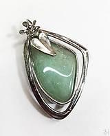 Náhrdelníky - Cínovaný tiffany prívesok s liečivým kameňom avanturínom - 12700224_