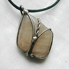Náhrdelníky - Prívesok s mesačným kameňom  «NANULI» - 12701674_