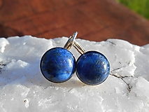 king lapis lazuli in silver-naušnice-striebro