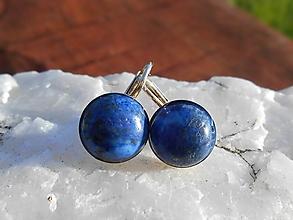 Náušnice - king lapis lazuli in silver-naušnice-striebro - 12704066_