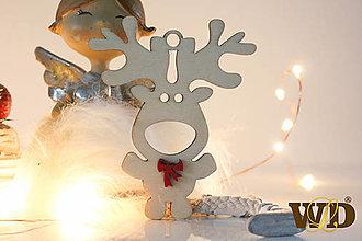 Dekorácie - Vianočné drevené ozdoby - 12704083_