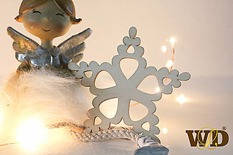 Dekorácie - Vianočné drevené ozdoby - 12704085_