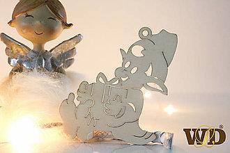 Dekorácie - Vianočné drevené ozdoby - 12704087_