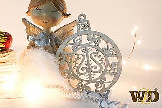 Dekorácie - Vianočné drevené ozdoby - 12704091_