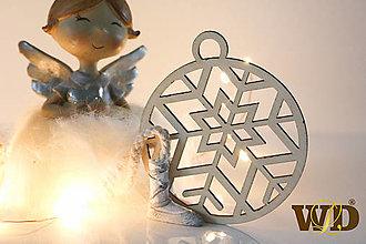 Dekorácie - Vianočné drevené ozdoby - 12704092_