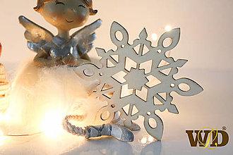 Dekorácie - Vianočné drevené ozdoby - 12704095_