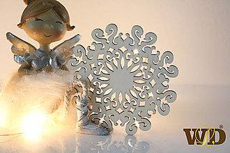 Dekorácie - Vianočné drevené ozdoby - 12704120_