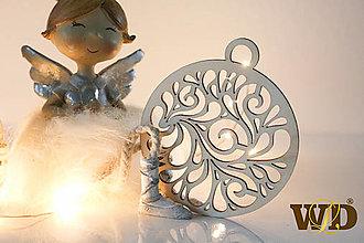 Dekorácie - Vianočné drevené ozdoby - 12704125_