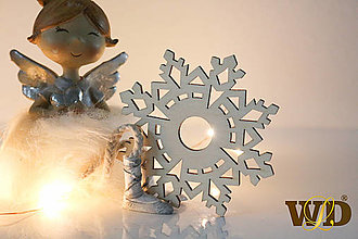 Dekorácie - Vianočné drevené ozdoby - 12704129_