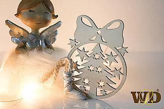 Dekorácie - Vianočné drevené ozdoby - 12704132_