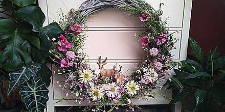 Dekorácie - Veniec XXXL.... jelene v lúke - 12702465_